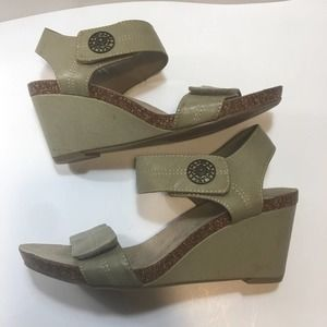 Axxiom Wedge Sandal with Velcro Closures